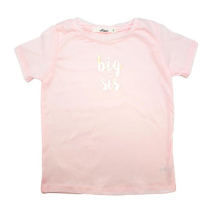 """Big Sis"" Blush Tee"