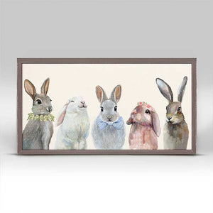 Bunny Bunch Mini Print 10x5