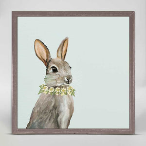 Bunny W/Wreath Mini Print 6x6