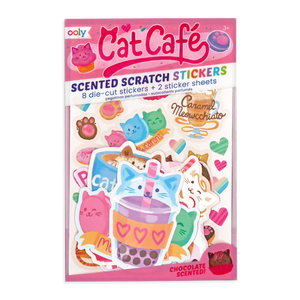 Cat Cafe Scented Stickers