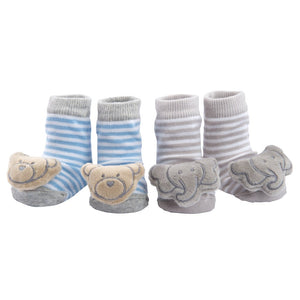 Bear/Elephant Rattle Socks