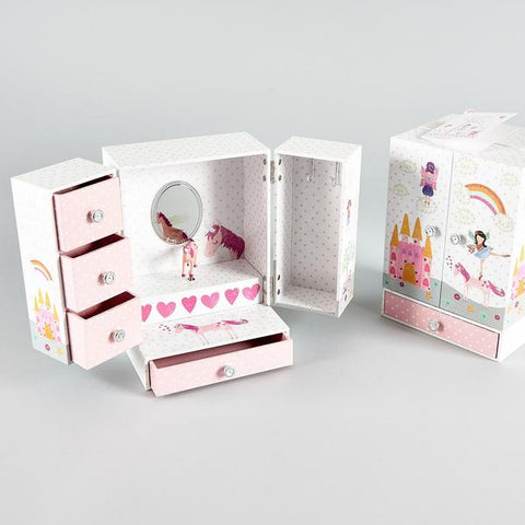 Musical Fairy Unicorn Jewelry Box