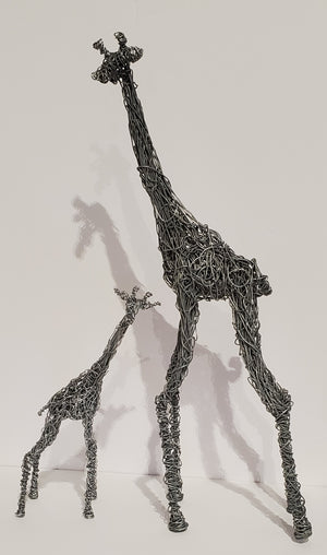 Handmade Wire Giraffe 2PC Set