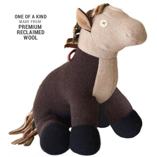 Wool Stuffed Animal - Horse