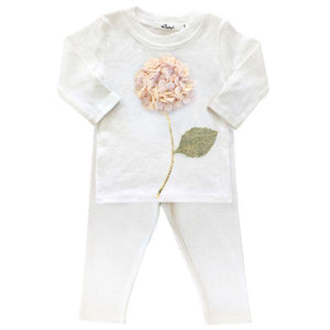 Hydrangea Flower 2PC Set, Cream