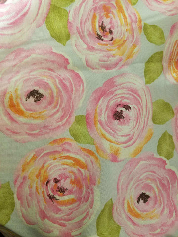 Cabbage Rose Crib Sheet