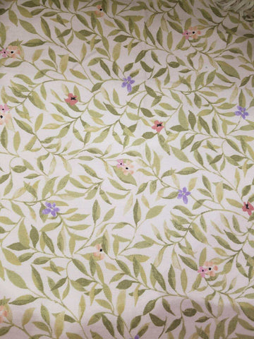 Vine and Flower Crib Sheet