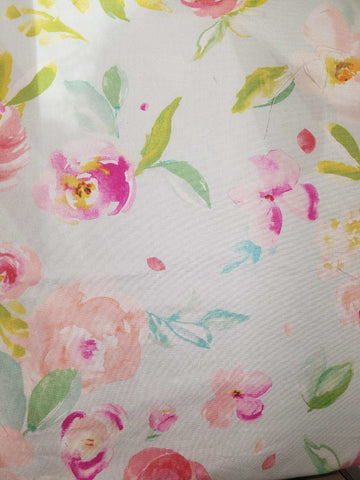 Watercolor Peonies Crib Sheet