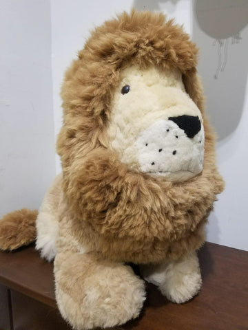 Alpaca Stuffed Lion, Huge