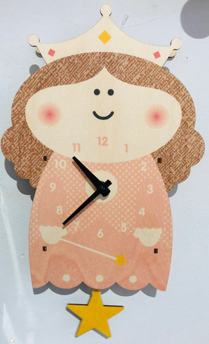 Pendulum Clock, Pink Princess