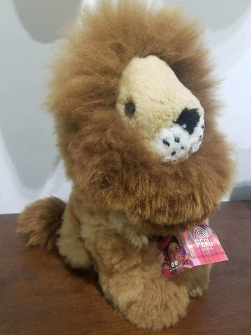 Alpaca Stuffed Lion, Medium