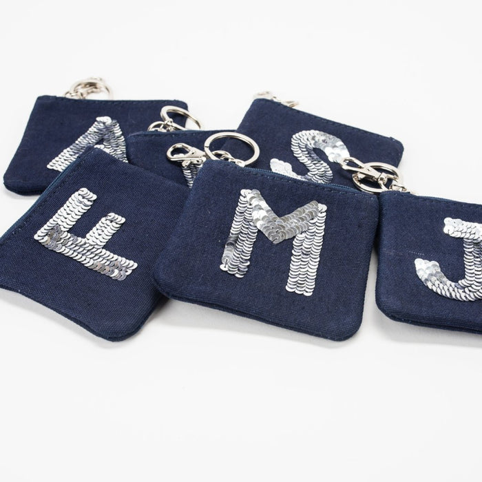 Jazz Letter Coin Purse, Navy