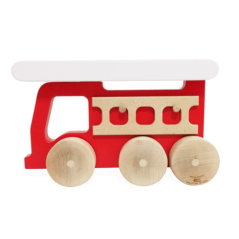 Push Toy - Fire Truck - Red