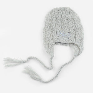 Lacey Mohair Hat, Grey