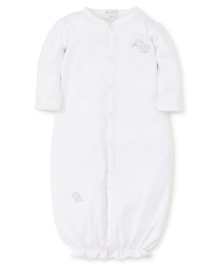 Baba Babies Dot Conv. Gown, Pink