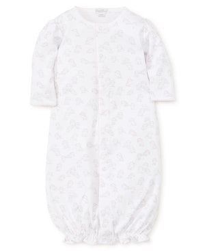 Baba Babies Print Conv. Gown, Pink