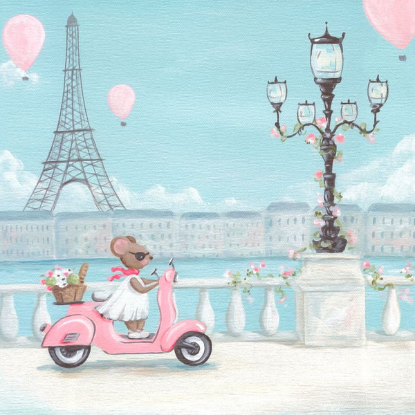 Print Art - Little Pink Vespa