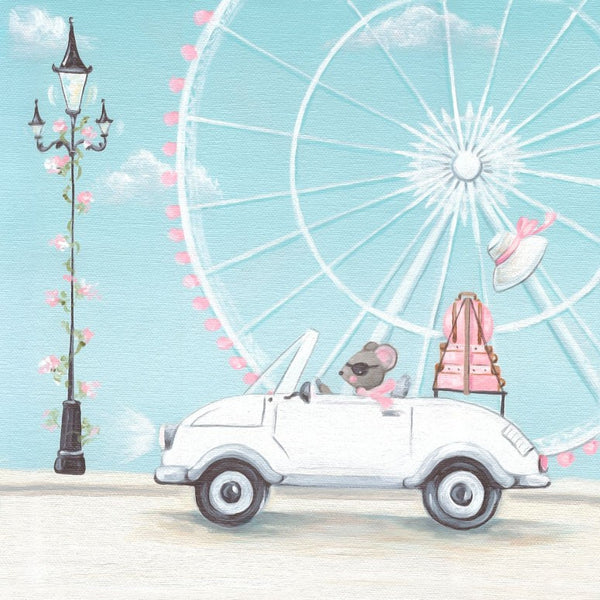Print Art - Little White Convertible