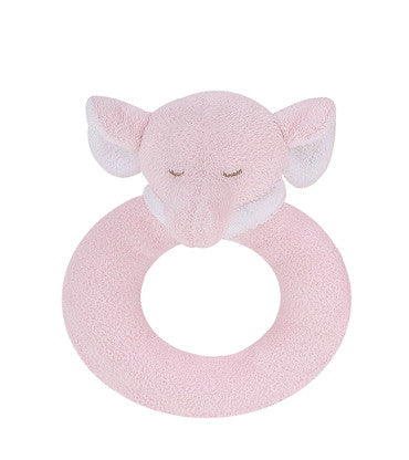 Ring Rattle - Pink Elephant