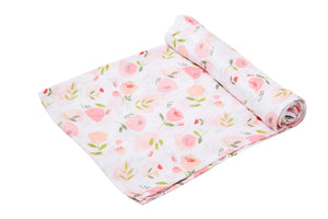 Bamboo Swaddle Blanket - Pretty In Pink