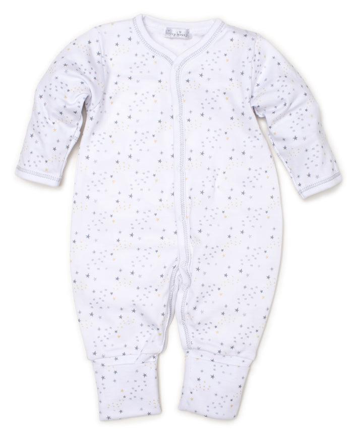 Shimmer Stars Playsuit, Silver Multi