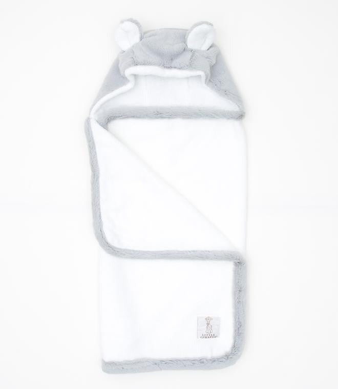 Luxe Hooded Towel W/Ears, Silver