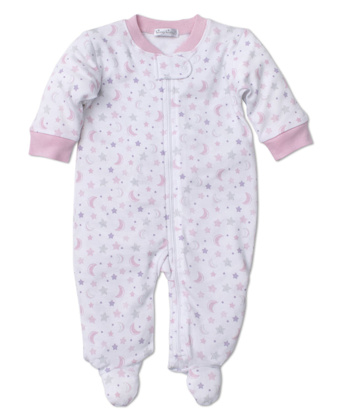 Super Stars Footie W/Zip, Pink