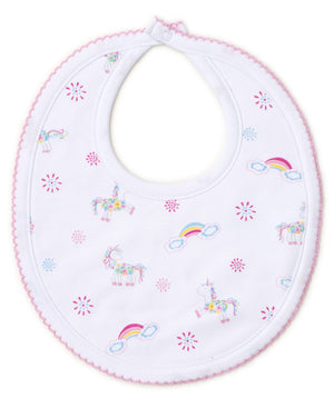 Rainbow Unicorns Bib