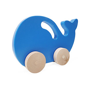 Push Toy - Whale - Blue