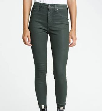 PISTOLA ALINE HIGH RISE SKINNY - COATED GREEN GABLES