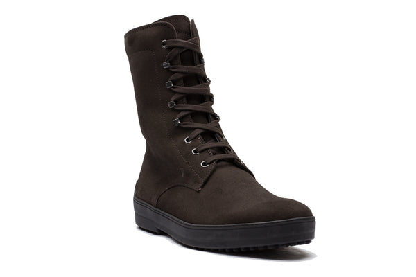 Tod's Men's Suede Sivaletto Winter Gommini Boot Shoes Brown - La Dolce Vitae