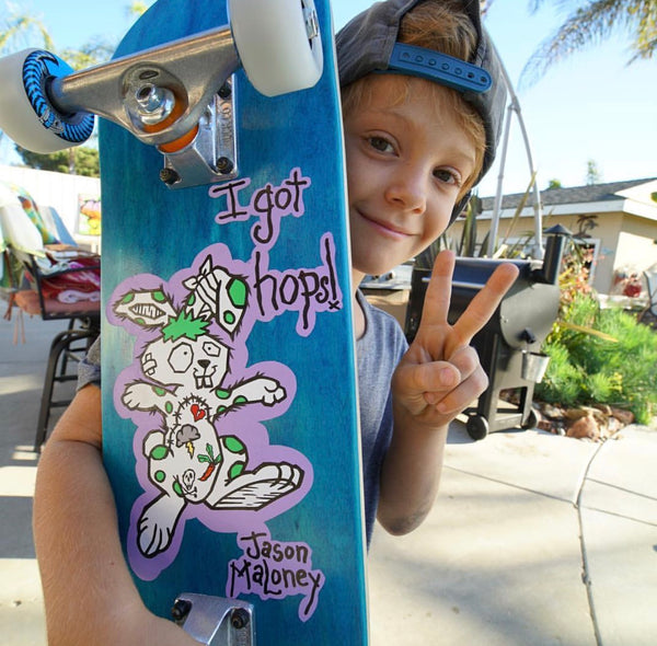 Custom Painted Kids Skateboard