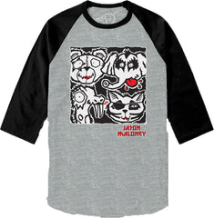 LICK IT UP!-Raglan-Heather Grey/Black