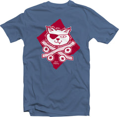 Skate Cat (Toddler & Kids)-Steel Blue