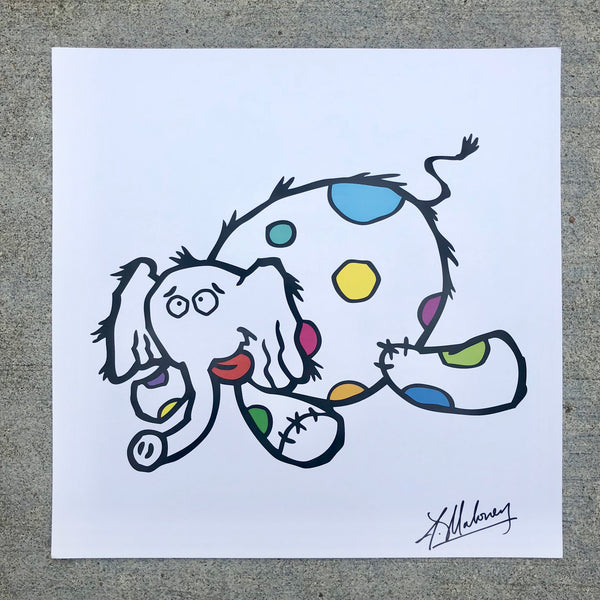 Tippsy the Elephant Signed Print