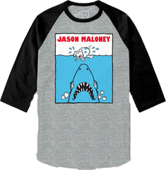 JAWS-Raglan-Heather Grey/Black