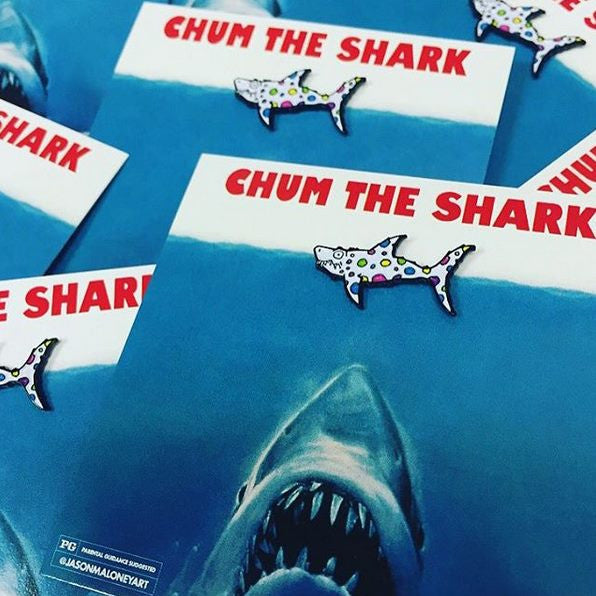 Chum vs. Jaws Lapel Pin