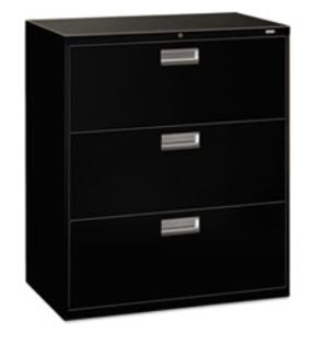"HON COMPANY 600 Series Three-Drawer Lateral File 36""W"