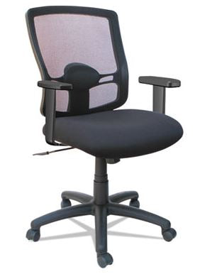 Alera Etros Series Mesh Mid-Back Petite Swivel/Tilt Chair-ALEET4017B