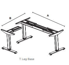 Friant Adjustable Height Base 3 stage Corner Base T-Leg