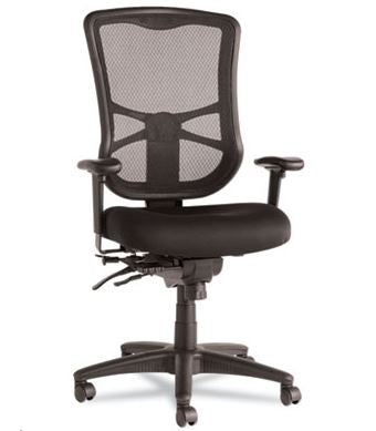 Alera Elusion Series Mesh High-Back Multifunction Chair-ALEEL41ME10B
