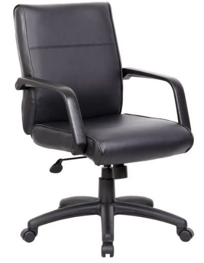 Boss Mid Back Executive Chair In LeatherPlus - B686