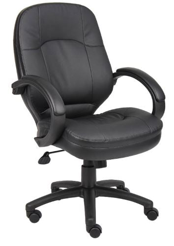 Boss LeatherPlus Executive Chair - B726-BK
