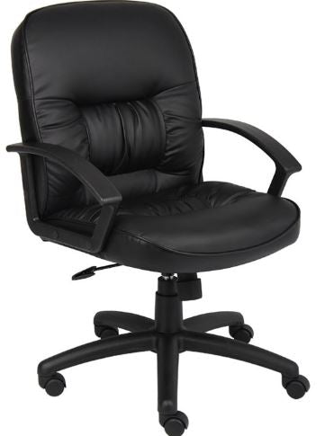 Boss Mid Back LeatherPlus Chair-B7306