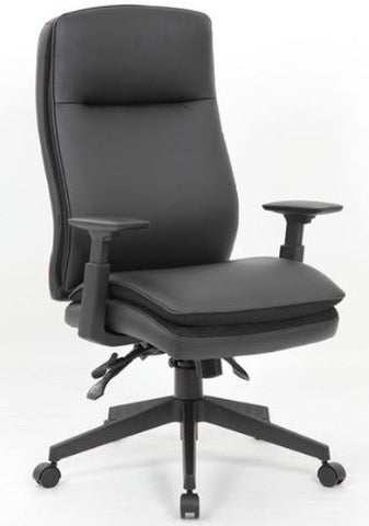 Boss Caressoft Executive High Back Chair w/ Adjustable Arms - B730-BK