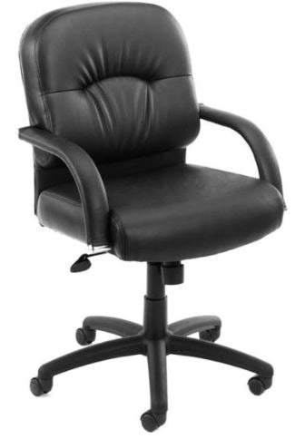 Boss Mid Back Caressoft Chair In Black-B7406