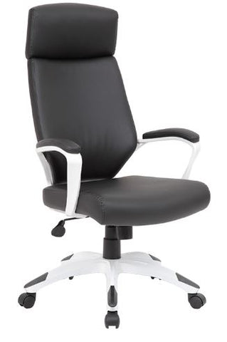 Boss White/Black Gaming Chair-B7883W-BK