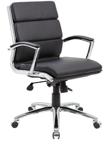 Boss CaressoftPlus Executive Mid-Back Chair