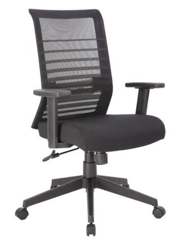 Boss Horizontal Mesh Back Task Chair, Synchro-Tilt Mechanism-B6566