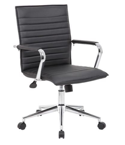 Boss Hospitality Task Chair with Fixed Chrome Arms - B9533C-BK